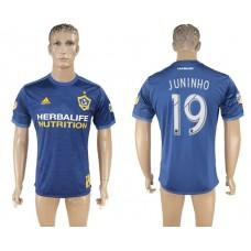 Men 2017-2018 club Los Angeles Galaxy away aaa version 19 blue soccer jersey