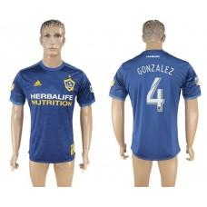 Men 2017-2018 club Los Angeles Galaxy away aaa version 4 blue soccer jersey
