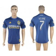 Men 2017-2018 club Los Angeles Galaxy away aaa version 7 blue soccer jersey