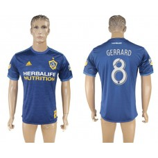 Men 2017-2018 club Los Angeles Galaxy away aaa version 8 blue soccer jersey