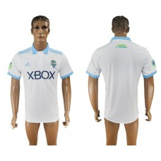 Men 2017-2018 club Seattle Sounders away aaa version blank white soccer jersey