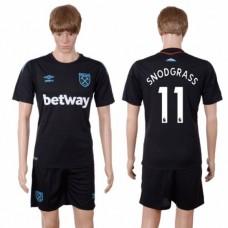Men 2017-2018 club West Ham United away 11 black soccer jersey