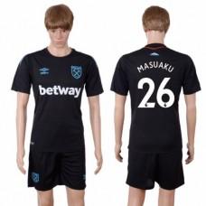 Men 2017-2018 club West Ham United away 26 black soccer jersey