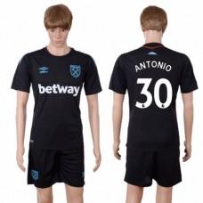 Men 2017-2018 club West Ham United away 30 black soccer jersey
