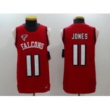 Men Atlanta Falcons 11 Julio Jones Red Rush Player Name Number Tank Top stitched NFL Jerseys