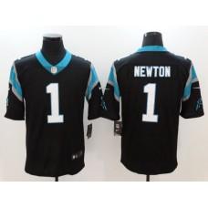 Men Carolina Panthers 1 Newton Black Nike Vapor Untouchable Limited NFL Jerseys
