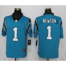 Men Carolina Panthers 1 Newton Blue Nike Vapor Untouchable Limited NFL Jerseys