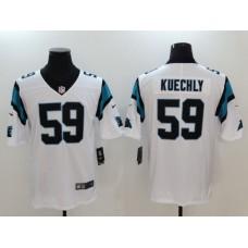 Men Carolina Panthers 59 Kuechly White Nike Vapor Untouchable Limited NFL Jerseys