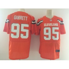Men Cleveland Browns 95 Garrett Orange Nike Elite Jerseys