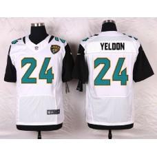 Men Jacksonville Jaguars 24 T.J. Yeldon White Elite Nike NFL Jerseys