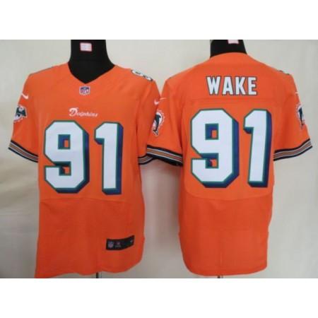 Men Miami Dolphins 91 Wake Oragne Elite Nike NFL Jerseys