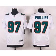 Men Miami Dolphins 97 Jordan Phillips White Elite Nike NFL Jerseys