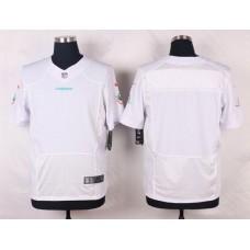 Men Miami Dolphins Blank White Elite Nike NFL Jerseys