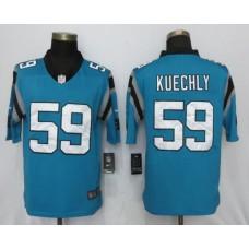 Men NFL Nike Carolina Panthers 59 Kuechly Blue 2017 Vapor Untouchable Limited jersey