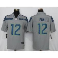 Men NFL Nike Seattle Seahawks 12 Fan Grey 2017 Vapor Untouchable Limited jersey