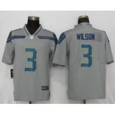 Men NFL Nike Seattle Seahawks 3 Wilson Grey 2017 Vapor Untouchable Limited jersey