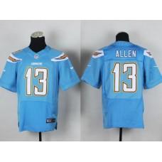 Men Los Angeles Chargers 13 Allen Light Blue Elite Nike NFL Jerseys