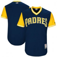 Men San Diego Padres Blank Blue New Rush Limited MLB Jerseys