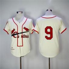 Men St. Louis Cardinals  9 Roger Maris Gream 1946 Throwback MLB Jerseys