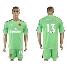 Men 2017-2018 club Arsenal goalkeeper 13 green soccer jersey