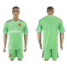 Men 2017-2018 club Arsenal goalkeeper blank green soccer jersey