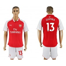 Men 2017-2018 club Arsenal home 13 red soccer jersey