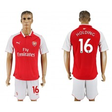 Men 2017-2018 club Arsenal home 16 red soccer jersey