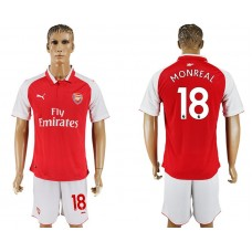 Men 2017-2018 club Arsenal home 18 red soccer jersey