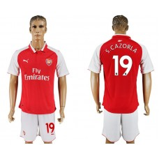 Men 2017-2018 club Arsenal home 19 red soccer jersey