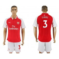 Men 2017-2018 club Arsenal home 3 red soccer jersey