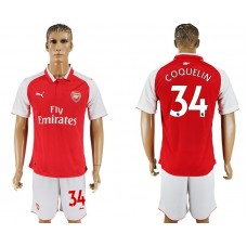 Men 2017-2018 club Arsenal home 34 red soccer jersey