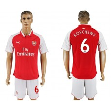 Men 2017-2018 club Arsenal home 6 red soccer jersey