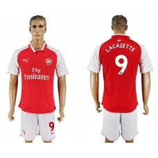 Men 2017-2018 club Arsenal home 9 red soccer jersey1