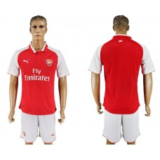 Men 2017-2018 club Arsenal home blank red soccer jersey