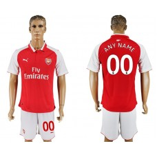 Men 2017-2018 club Arsenal home customized red soccer jersey