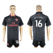 Men 2017-2018 club Arsenal second away 16 black soccer jersey