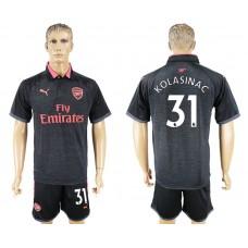 Men 2017-2018 club Arsenal second away 31 black soccer jersey