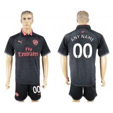 Men 2017-2018 club Arsenal second away customized black soccer jersey