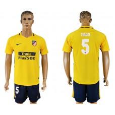 Men 2017-2018 club Atletico Madrid away 5 yellow soccer jersey