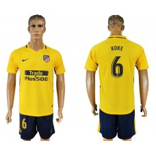Men 2017-2018 club Atletico Madrid away 6 yellow soccer jersey1