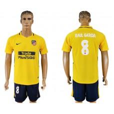 Men 2017-2018 club Atletico Madrid away 8 yellow soccer jersey