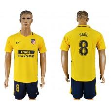 Men 2017-2018 club Atletico Madrid away 8 yellow soccer jersey1