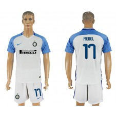 Men 2017-2018 club Inter milan away 17 white soccer jersey