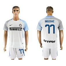 Men 2017-2018 club Inter milan away 77 white soccer jersey1