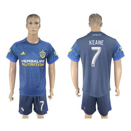 Men 2017-2018 club LA Galaxy away 7 blue soccer jersey