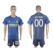 Men 2017-2018 club LA Galaxy away customized blue soccer jersey