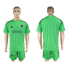 Men 2017-2018 club LA Galaxy goalkeeper green soccer jersey