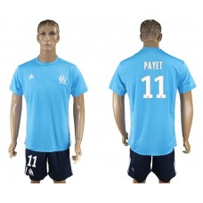 Men 2017-2018 club Marseille away 11 blue soccer jersey