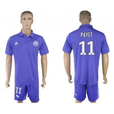 Men 2017-2018 club Marseille second away 11 purple soccer jersey