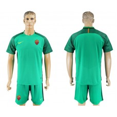 Men 2017-2018 club Rome goalkeeper blank green soccer jersey